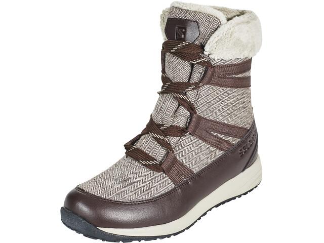 the latest 0cd8a 52e20 Salomon Heika CS WP Winter Boots Damen black coffee/cinder/black